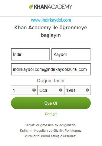 Khan Academy Nasıl Üye Olunur