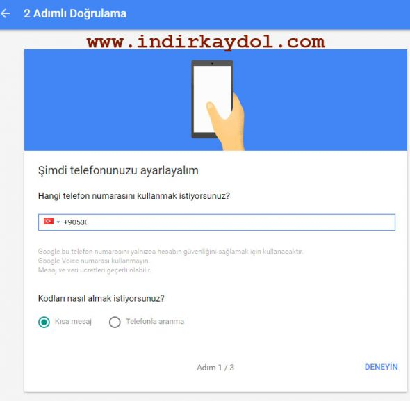 Gmail 2 Adımlı Doğrulama Etkinleştirme