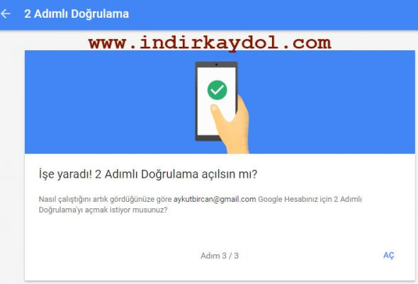 Gmail 2 Adımlı Doğrulama Nasıl Kullanılır