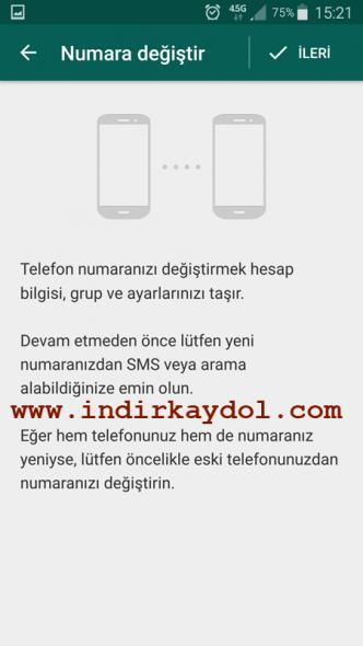 Whatsapp Cep Değiştrme