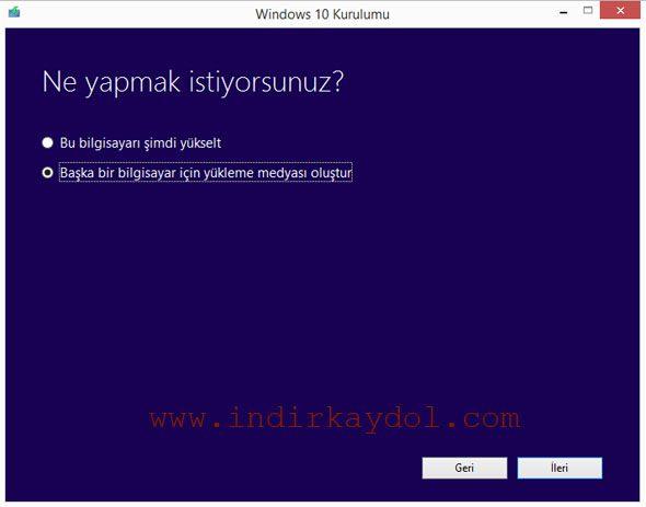 Windows 10 Seçenekleri