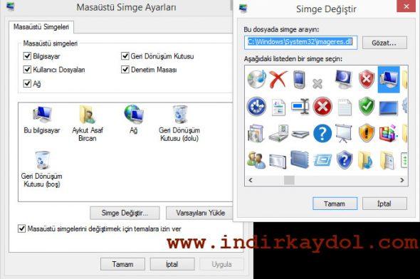 Windows 8 Masaüstü Simgeleri Nasıl Değiştirilir